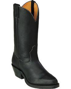 "Boulet Men's 12"" Matte Western Motorcycle Boots, Black, hi-res"