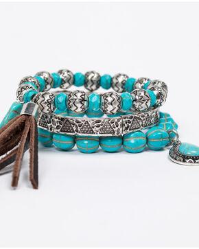 Shyanne Women's Emma Rae 3 Piece Bracelet Stack, Turquoise, hi-res