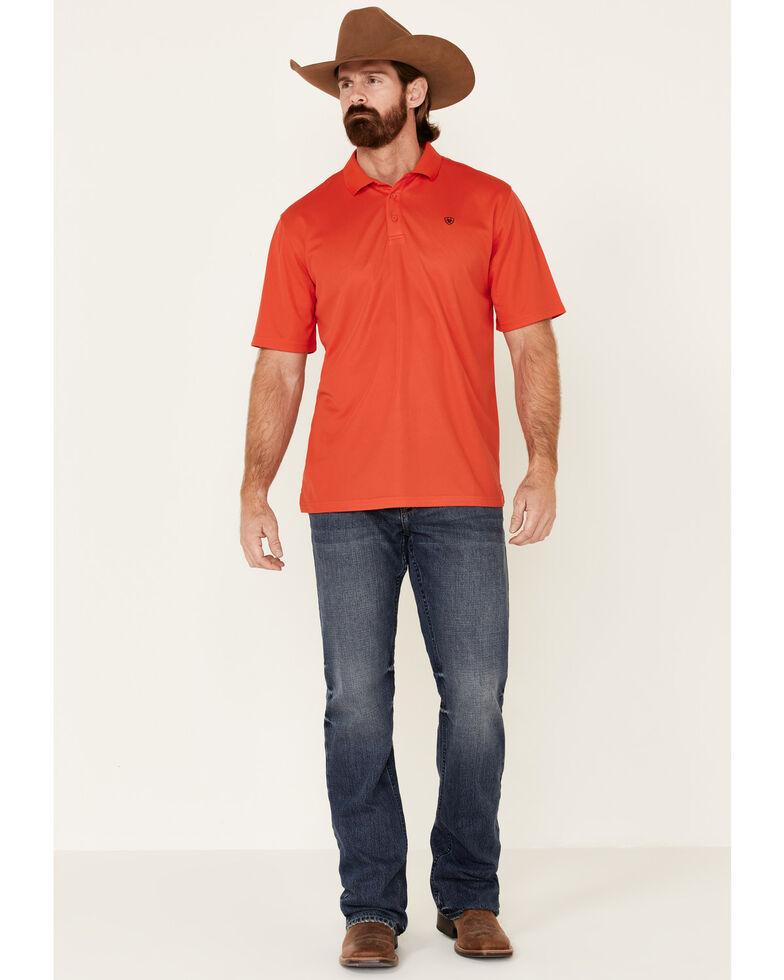 Ariat Men's Red Tek Short Sleeve Polo Shirt - Tall, Red, hi-res
