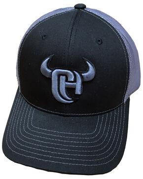 Cowboy Hardware Men's Logo Embroidered Trucker Cap, Black, hi-res