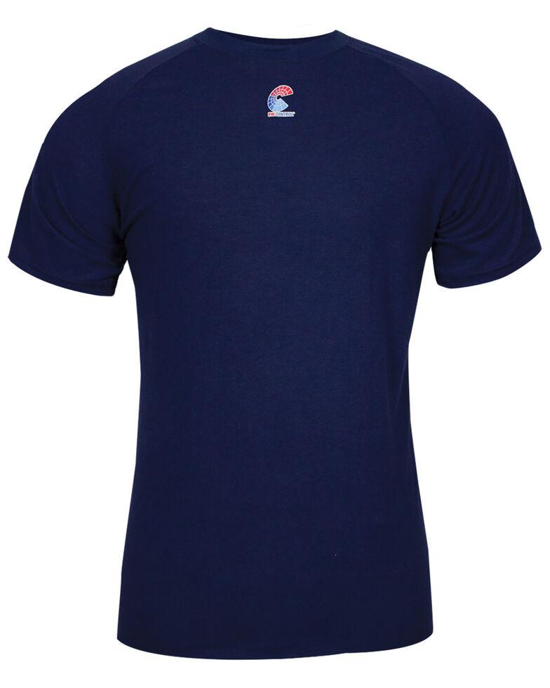 National Safety Apparel Men's Navy FR Control 2.0 Long Sleeve Work Shirt - Big , Navy, hi-res
