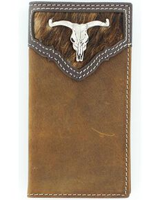Nocona Belt Co Youth's Horse Hair Wallet, Brown, hi-res