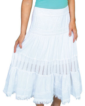 Scully Women's Crochet Skirt, White, hi-res