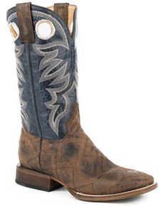 Roper Men's Garland Tan Western Boots - Square Toe, Tan, hi-res