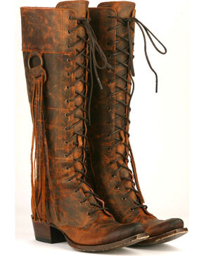 Junk Gypsy by Lane Women's Trailblazer Western Boots, Chili, hi-res