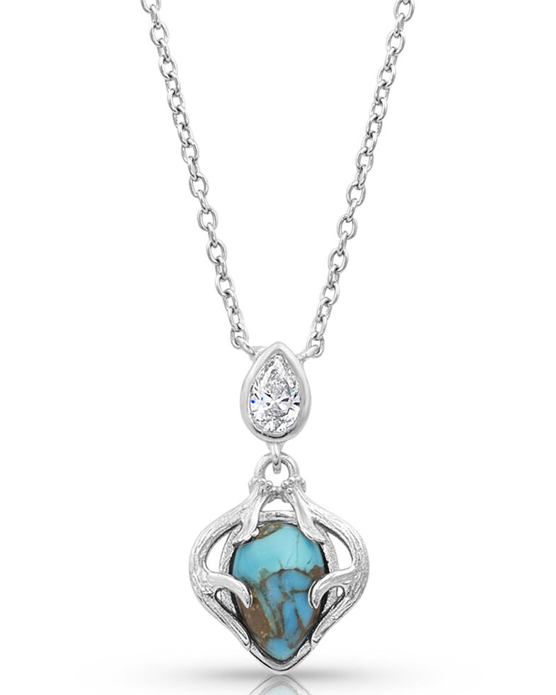 Montana Silversmiths Women's Timeless Treasure Necklace, Turquoise, hi-res