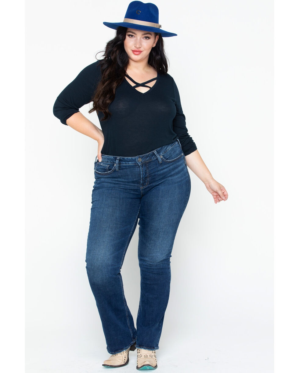 Silver Jeans Women's Slim Boot Cut Jeans - Plus, Indigo, hi-res