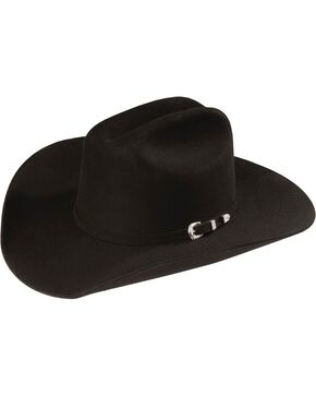Justin Men's 4X Fur Cody Felt Hat, Black, hi-res