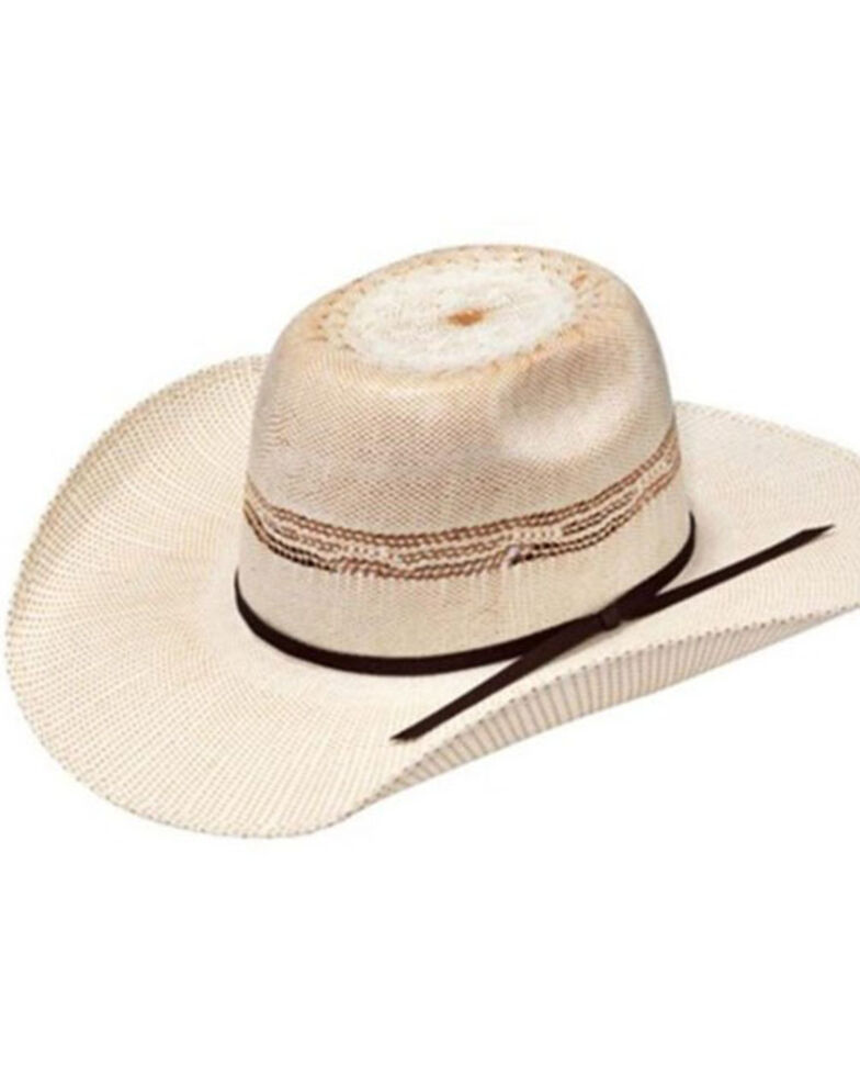 Ariat Youth Ivory Bangora Straw Western Hat , Ivory, hi-res