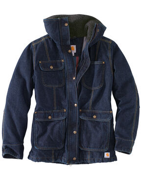 Carhartt Women's Weathered Duck Wesley Coat, Indigo, hi-res