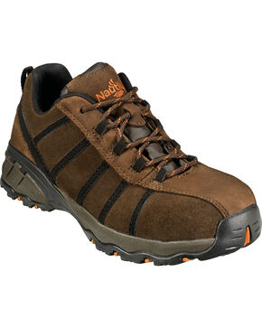 Nautilus Men's EH Athletic Work Shoes - Comp Toe, Brown, hi-res