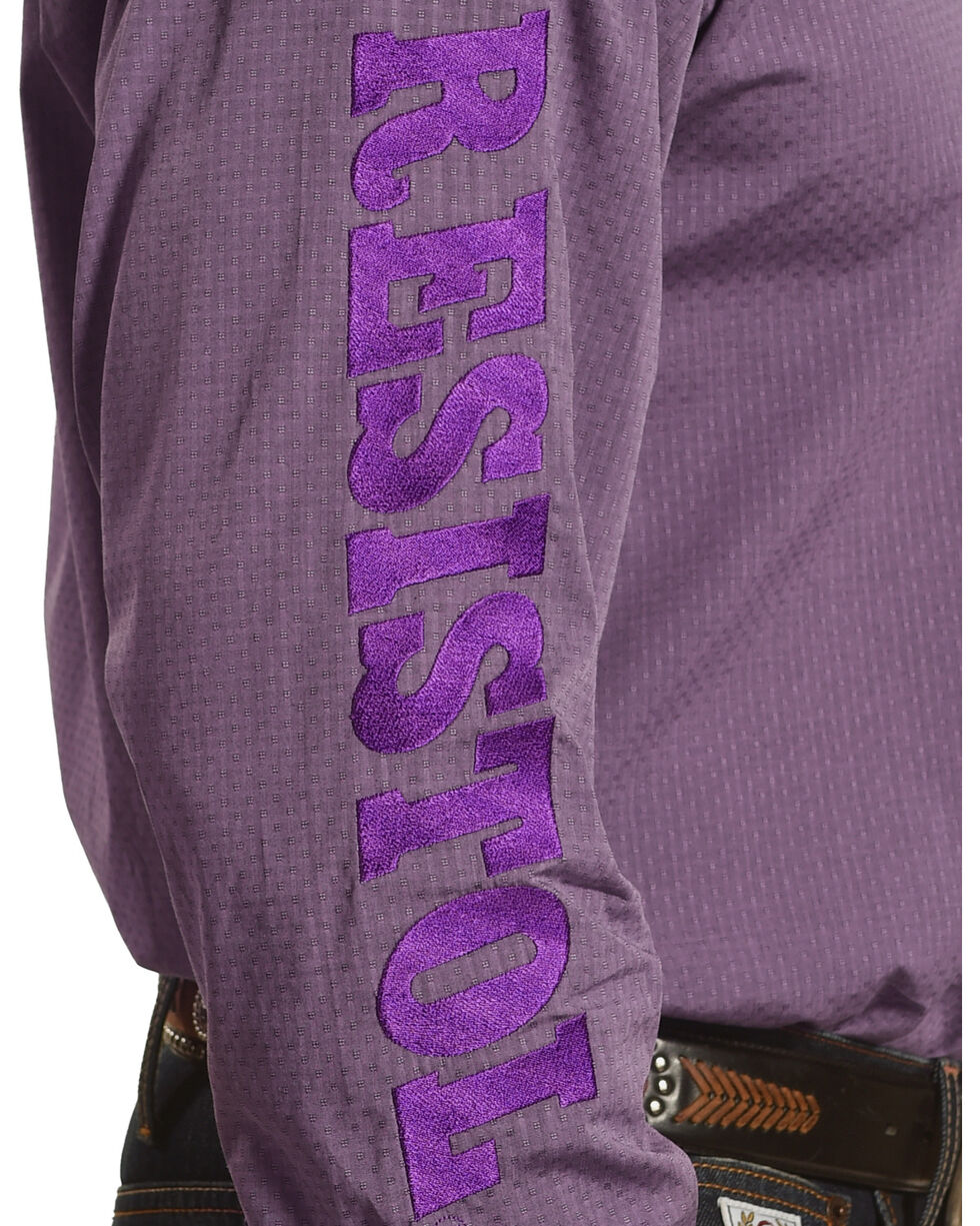 Resistol Men's Purple Remerton Marketing Button Shirt , Purple, hi-res