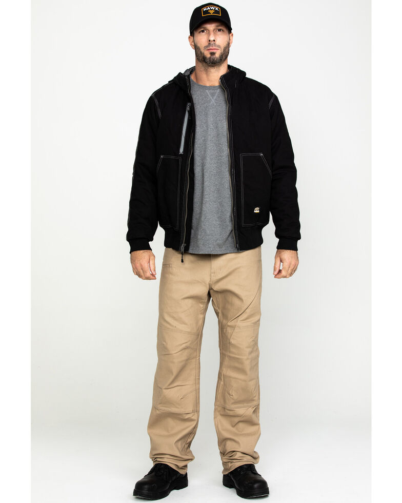 Berne Men's Torque Ripstop Hooded Work Jacket - Big , Black, hi-res