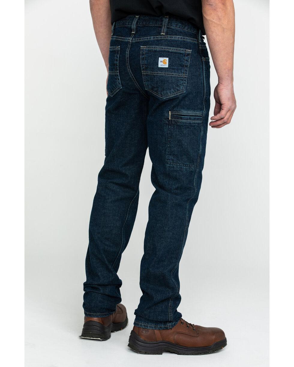 Carhartt Men's FR Rugged Flex Relaxed Fit Work Jeans , Indigo, hi-res