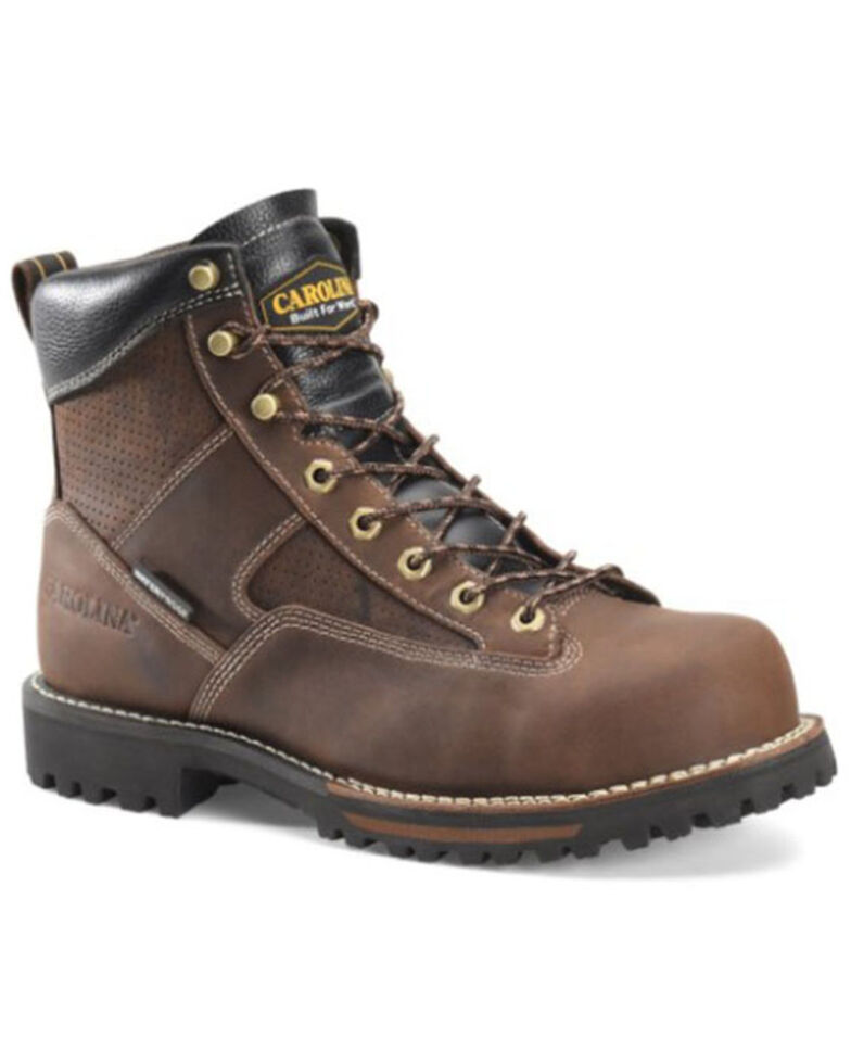 Carolina Men's Calyon Waterproof Work Boots - Soft Toe, Brown, hi-res