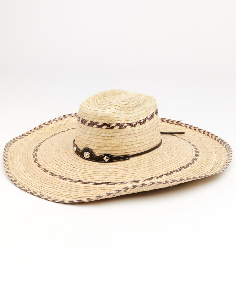 Cody James Palm Brick Pinto Palm Straw Western Hat , Natural, hi-res