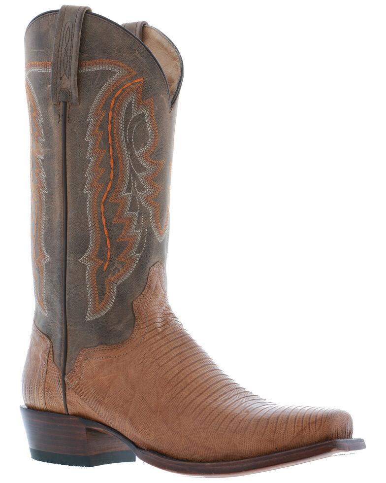El Dorado Men's Teju Lizard Western Boots - Square Toe, Sand, hi-res