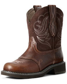 Ariat Women's Heritage Dapper Western Boots - Round Toe, Brown, hi-res