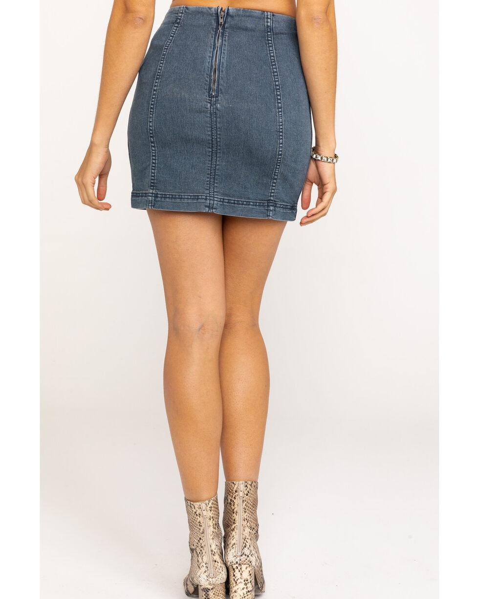 Free People Women's Modern Femme Denim Skirt, Blue, hi-res