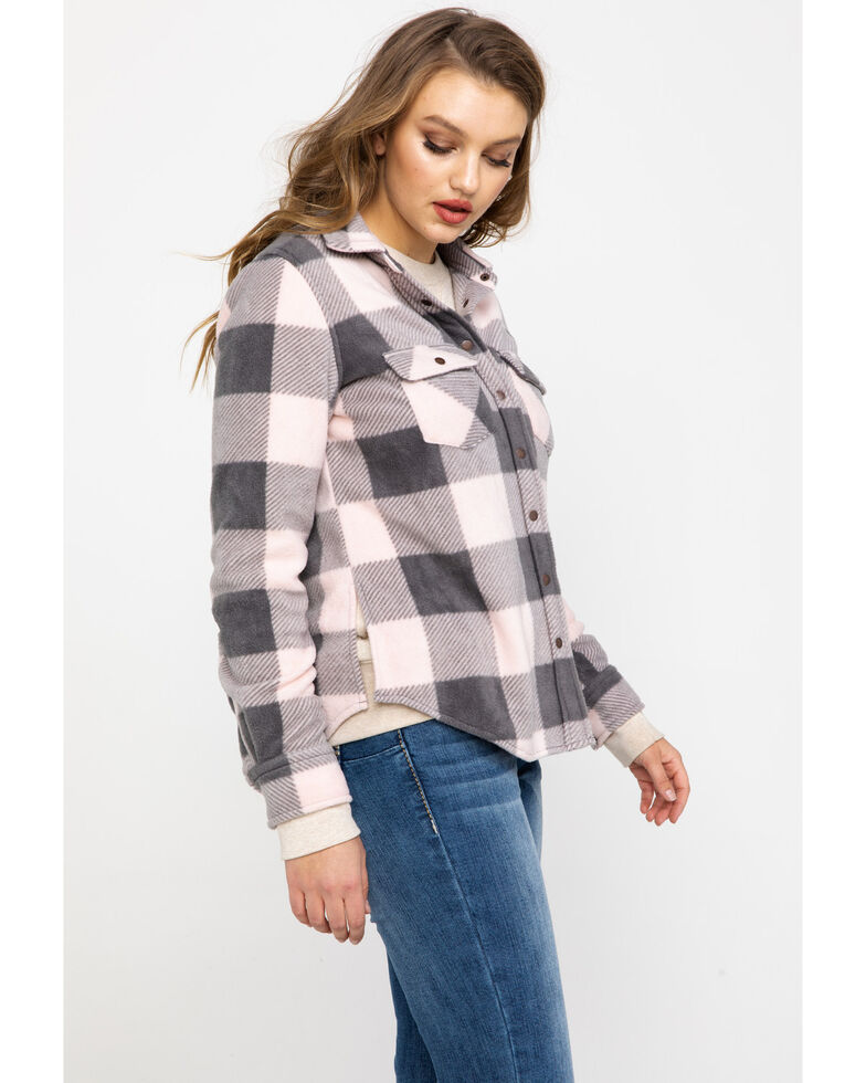 Shyanne Life Women's Large Plaid Long Sleeve Western Flannel Shirt , Charcoal, hi-res