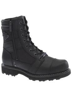 Harley Davidson Men's Boxbury Moto Boots - Composite Toe, Black, hi-res