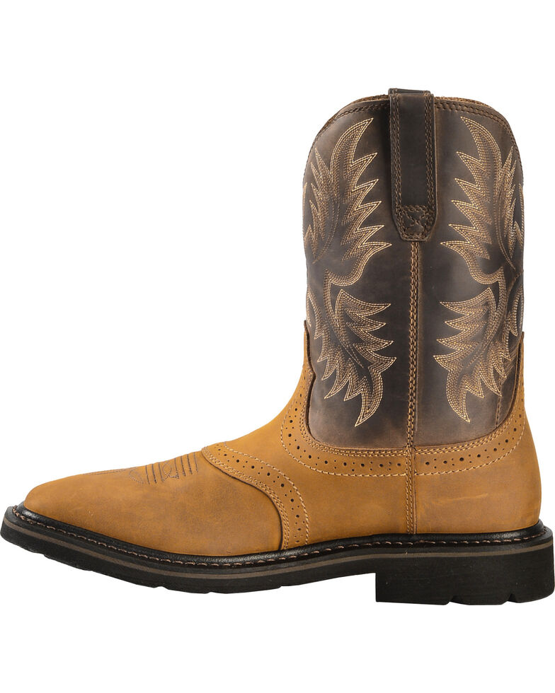35c5d57be6d Ariat Sierra Pull-On Western Work Boots - Square Toe