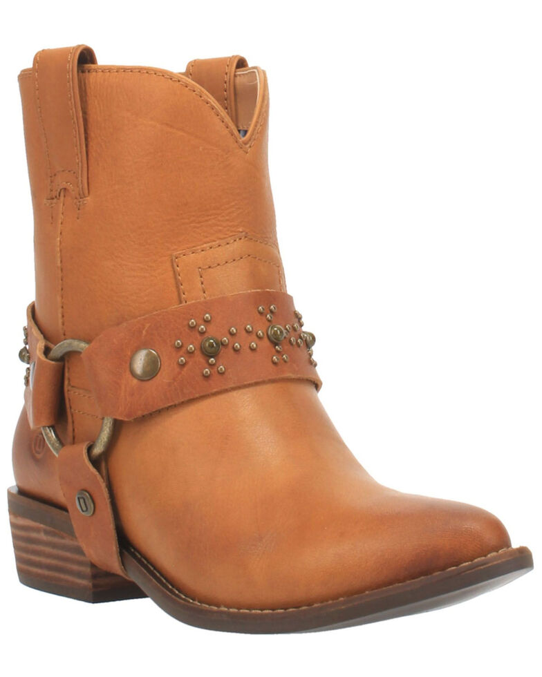Dingo Women's Silverada Western Booties - Medium Toe, Camel, hi-res