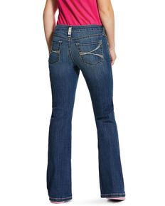 Ariat Girls' Medium R.E.A.L. Lucia Bootcut Jeans , Blue, hi-res
