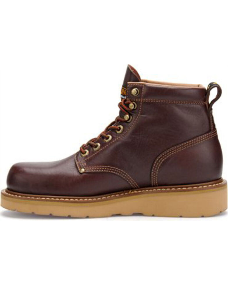 "Carolina Men's 6"" Broad Toe Wedge Work Boots, Black Cherry, hi-res"
