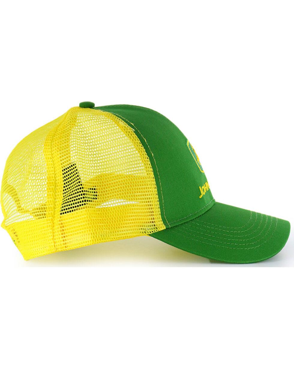 John Deere Embroided Logo Snap-Back Ball Cap, Green, hi-res