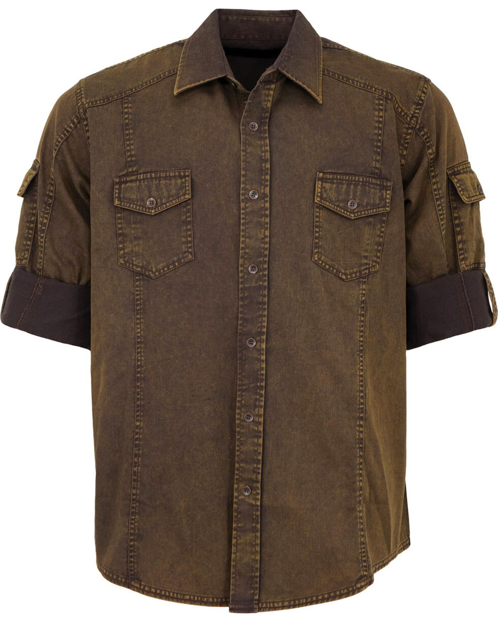 Outback Trading Co. Men's Brown Morris Shirt , Brown, hi-res