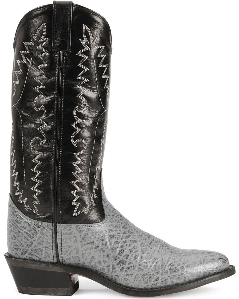 Old West Men's Elephant Print Western Boots, Grey, hi-res