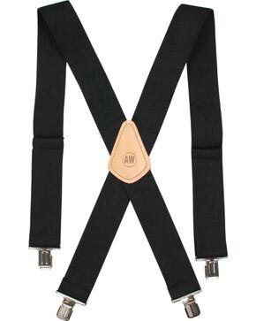 American Worker Men's Elastic Suspenders, Black, hi-res