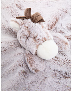 "Aurora 13"" Lovey Horse Blanket Rattle, Grey, hi-res"