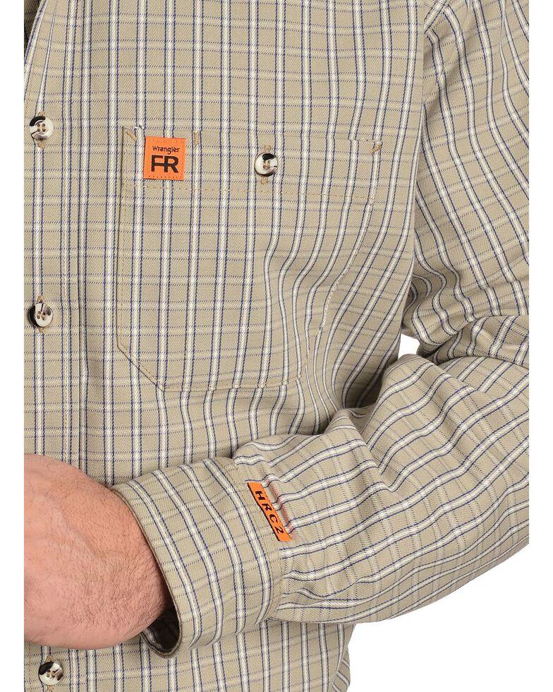 Wrangler RIGGS Workwear Men's Flame Resistant Long Sleeve Shirt, Khaki, hi-res
