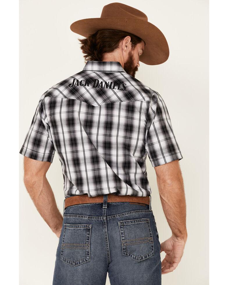 Jack Daniel's Men's Black Plaid Short Sleeve Western Shirt , Black, hi-res
