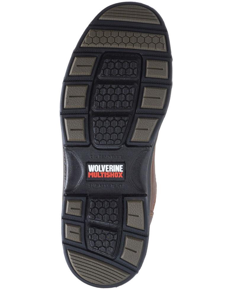Wolverine Men's Raider II Western Work Boots - Composite Toe, Distressed Brown, hi-res