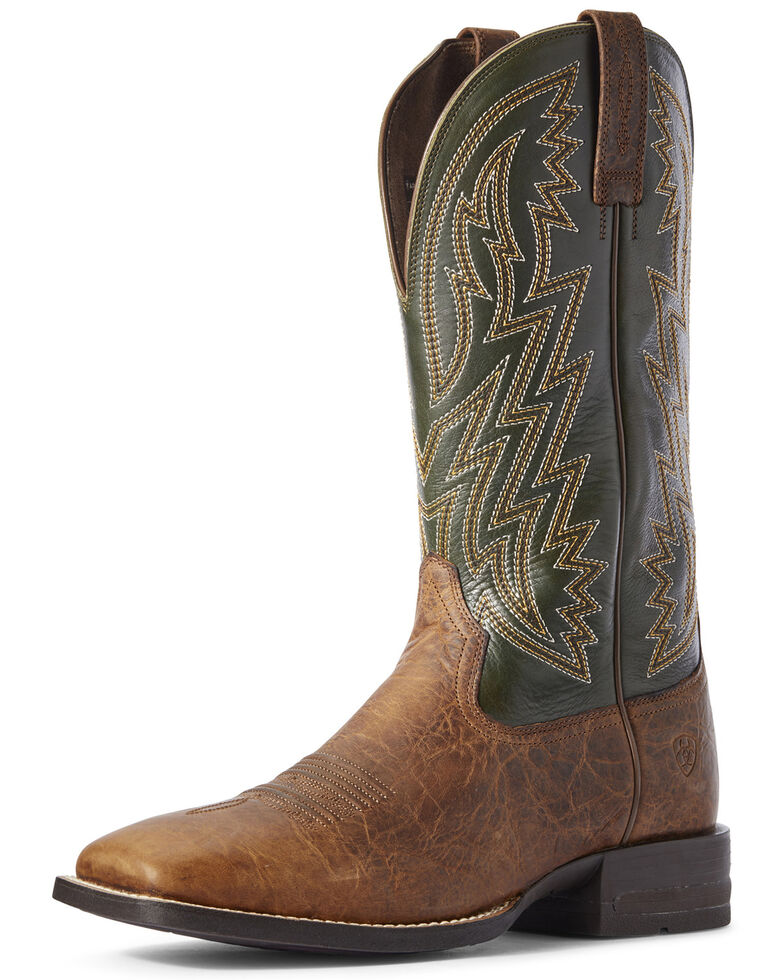 Ariat Men's Dynamic Toffee Western Boots - Wide Square Toe, Brown, hi-res