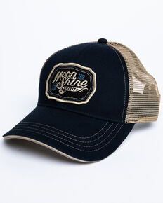 Moonshine Spirit Men's Navy Logo Patch Mesh Ball Cap, Navy, hi-res