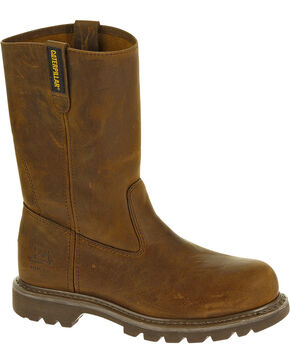 CAT Women's Revolver Steel Toe Work Boots, Brown, hi-res