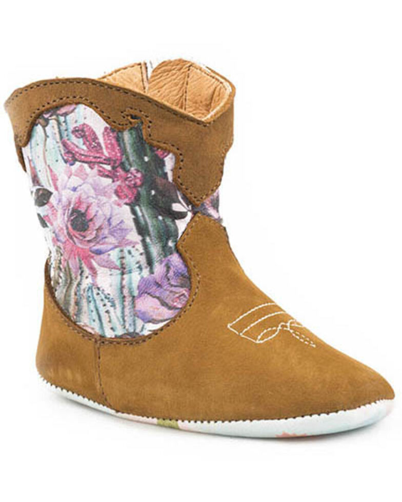 Tin Haul Infant Girls' Cactilicious Boots, Tan, hi-res