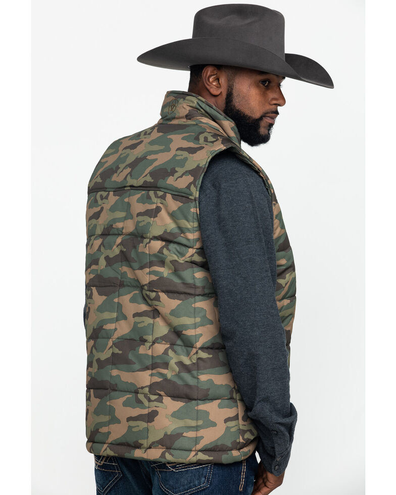 Ariat Men's Camo Crius Zip Front Vest , Camouflage, hi-res
