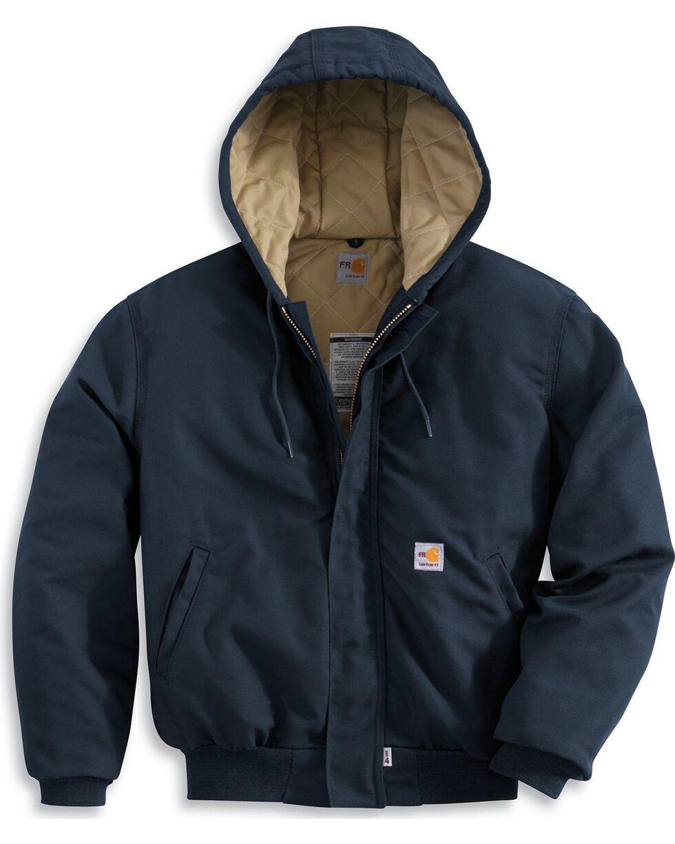 Carhartt Men's Flame Resistant Midweight Active Jacket, Navy, hi-res