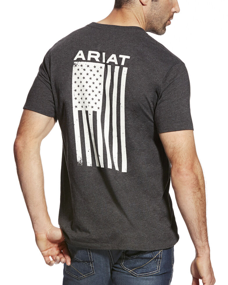 Ariat Men's Freedom Graphic Tee, Black, hi-res