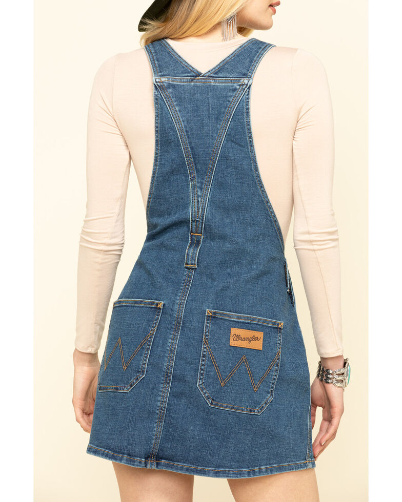 Wrangler Modern Women's Dark Wash Overall Dress, , hi-res