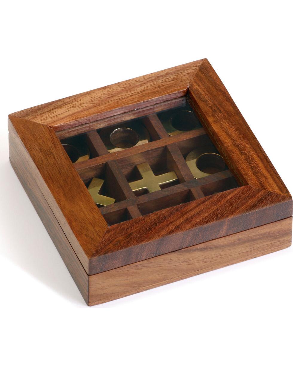 Demdaco Executive Wood Tic Tac Toe Game, Brown, hi-res