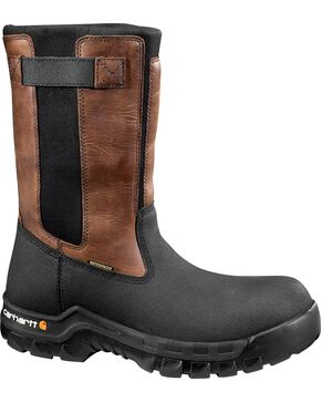 Carhartt Composite Rugged Flex Mud Wellington Waterproof Work Boots, Black, hi-res