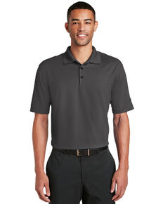 Nike Golf Men's Grey Dri-Fit Micro Pique Short Sleeve Work Polo Shirt , Grey, hi-res