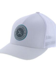 HOOey Men's White Liberty Roper Flag Patch Flex Fit Cap , White, hi-res