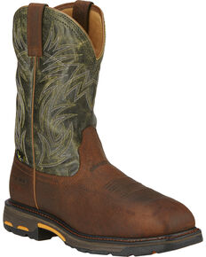 Ariat Men's Workhog Composite Toe Met Guard Work Boots, Brown, hi-res